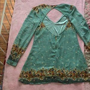 Xtaren Dresses - Chiffon mini dress with floral detail
